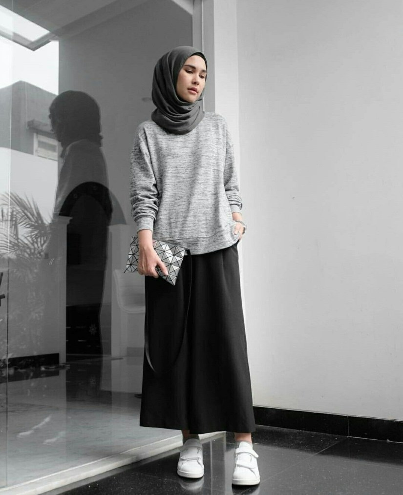 Style baju hijab simple yang sederhana