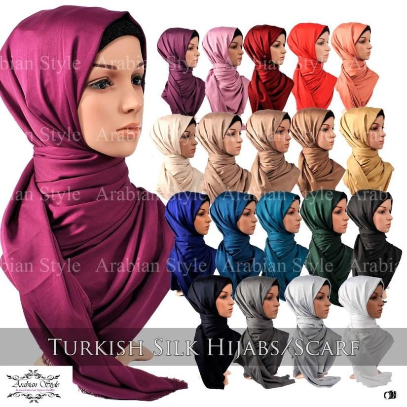 tutorial hijab pashmina satin ala turki