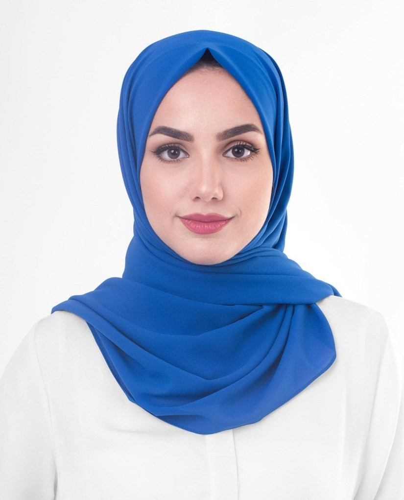 tutorial hijab pashmina satin untuk tampil formal
