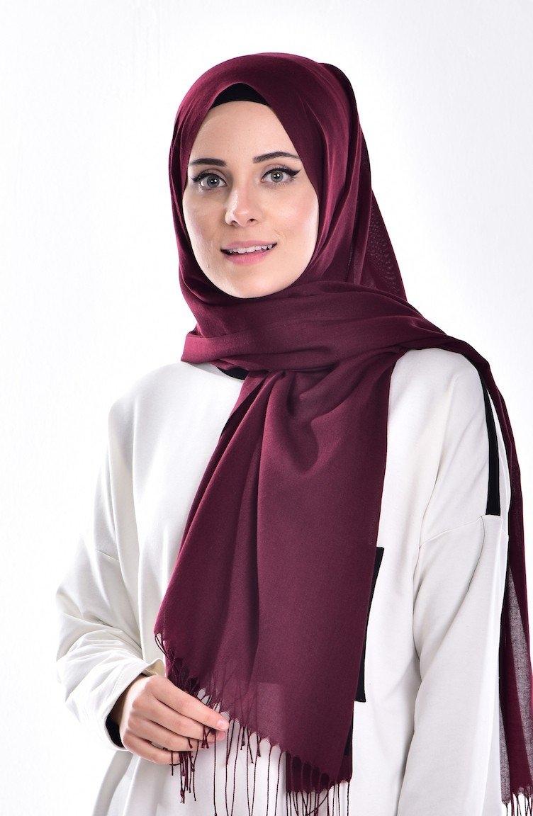 tutorial hijab pashmina satin yang sederhana