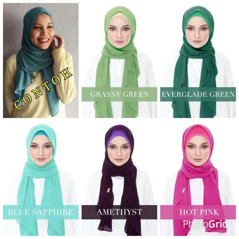 tutorial hijab pashmina satin yang seperti scarf