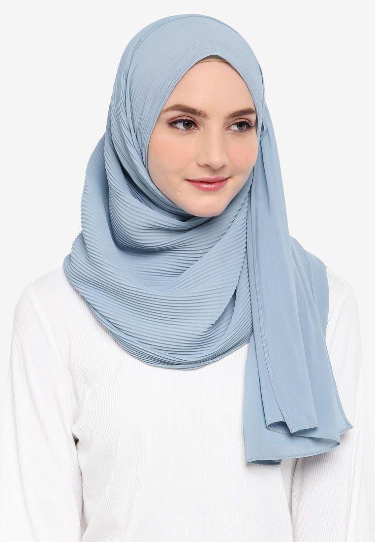 tutorial hijab pashmina satin yang simple
