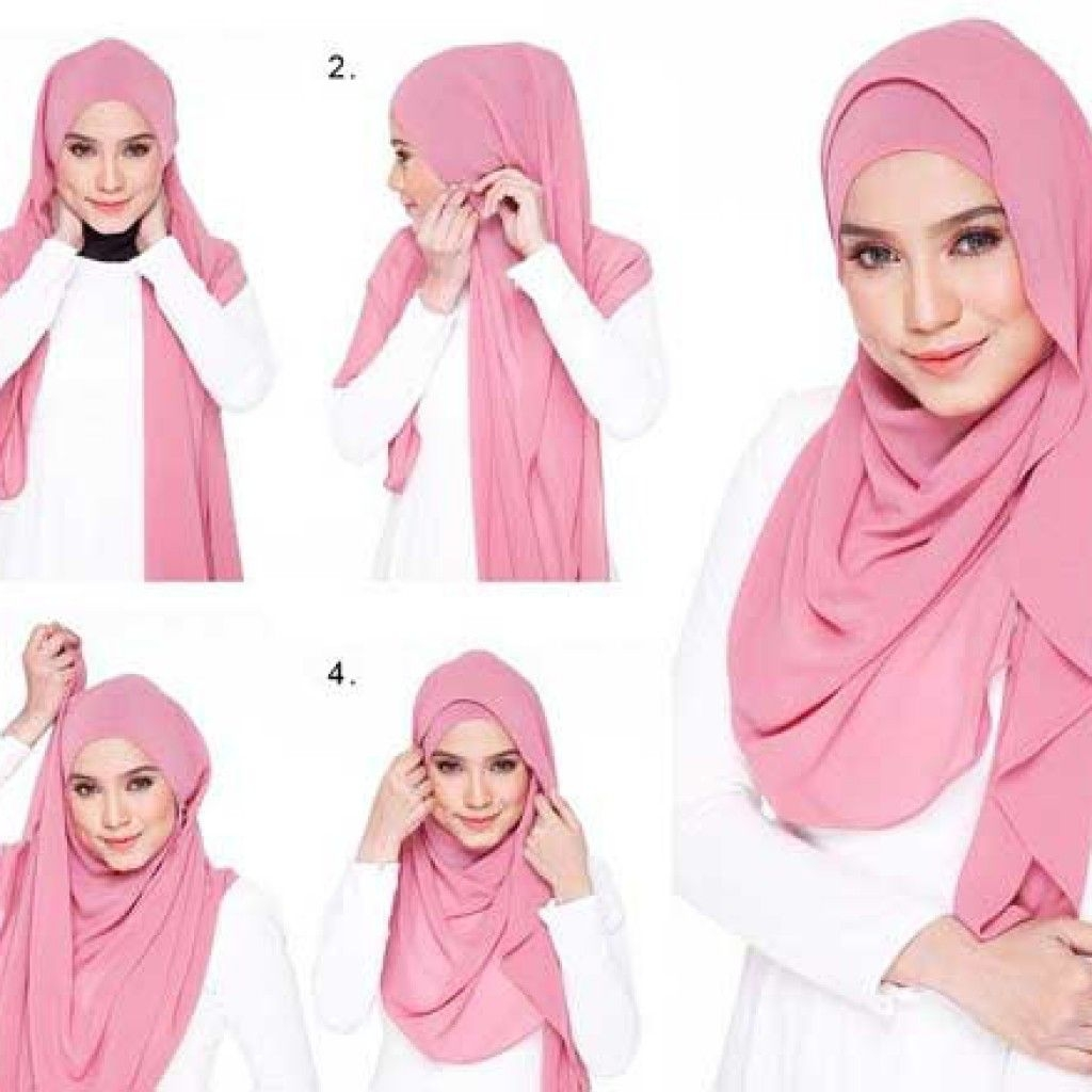 Tutorial hijab pashmina simple yang layer