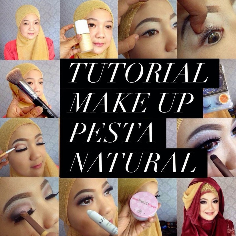 Tutorial make up natural hijab untuk ke pesta