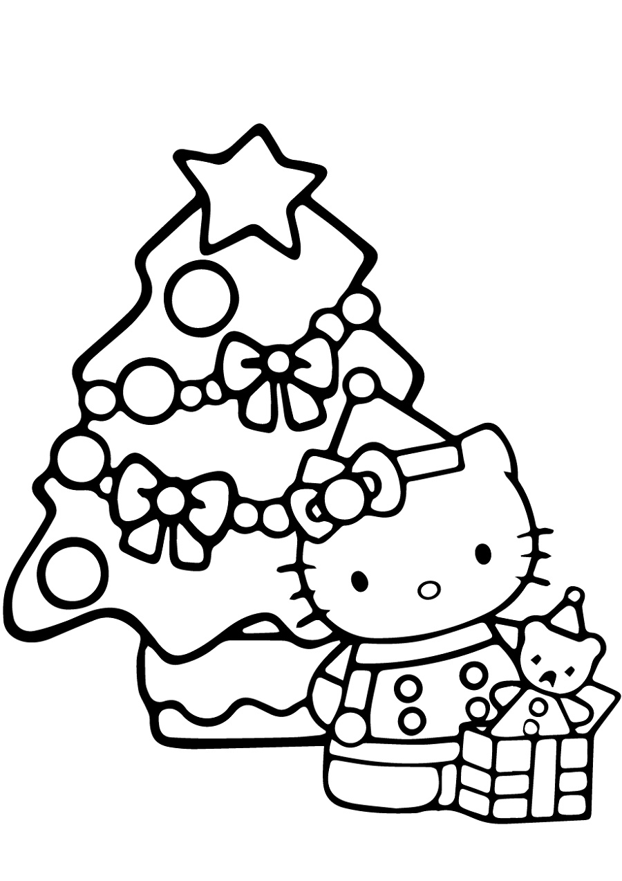 hello kitty christmas coloring pages hello kitty colouring
