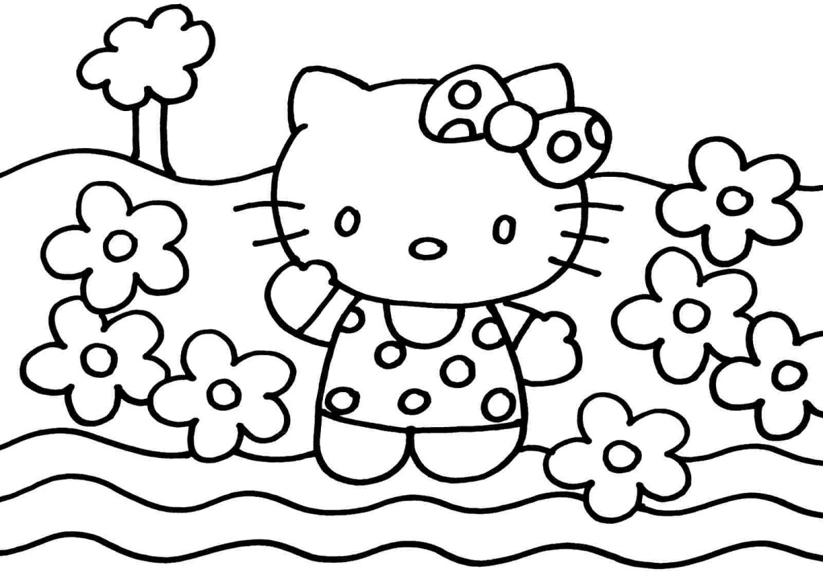 hello kitty coloring pages at getdrawings free download