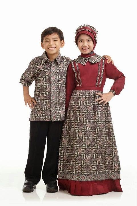model baju batik muslim terbaru untuk anak perempuan dan