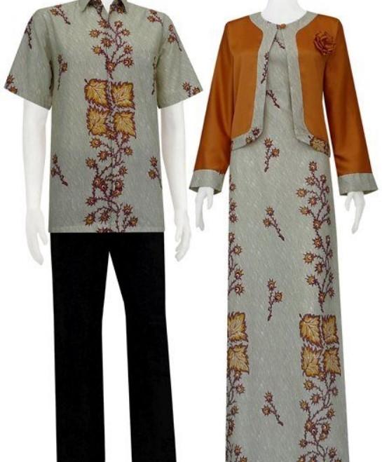 36 gamis batik kombinasi polos modern 2021 modis dan cantik