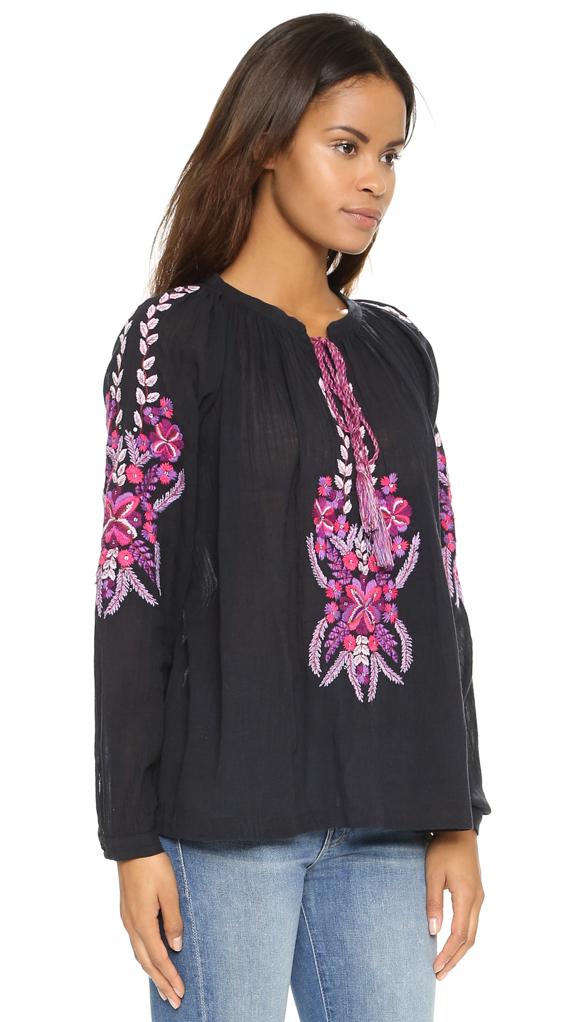 antik batik cali blouse black lyst