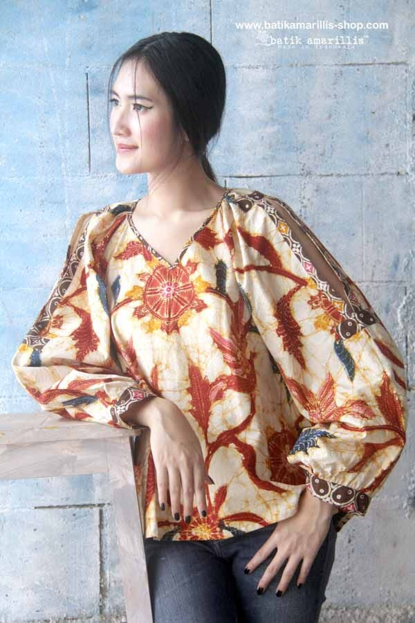 batik amarillis made in indonesia pakaian wanita model