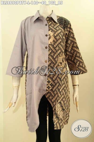 busana batik blouse untuk wanita muda dan dewasa pakaian