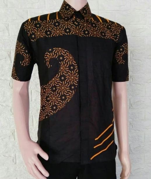 busanamuslim model model baju batik pria lengan pendek