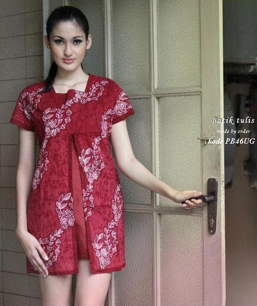 contoh model baju batik keris terkini