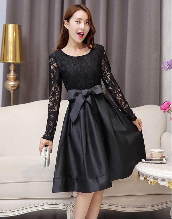 gambar brokat pesta warna hitam 285k dress gambar di