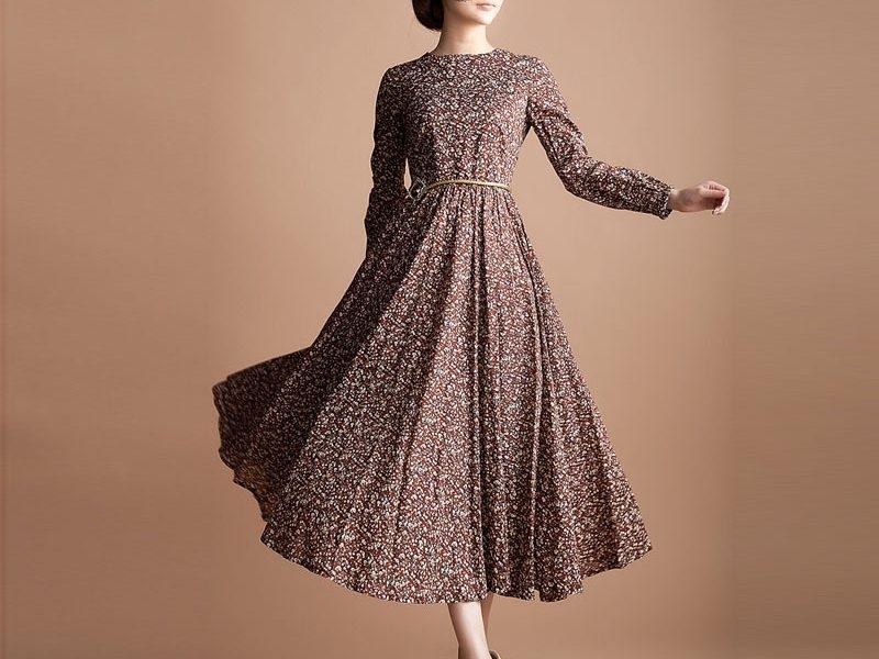 long dress lengan panjang dengan model baru