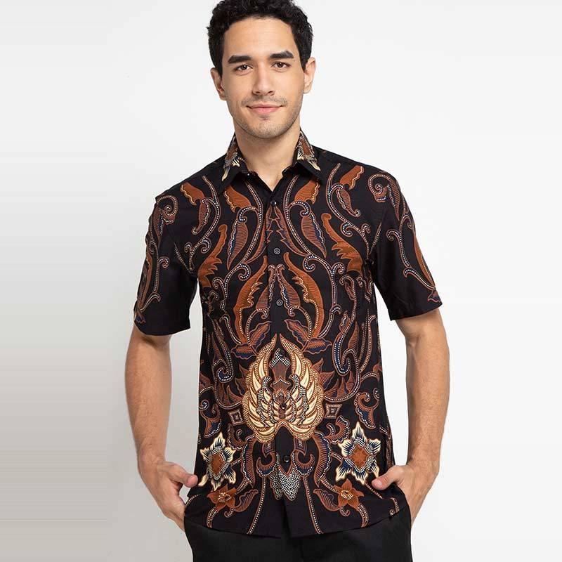 model baju batik atasan cowok baju batik pria lengan