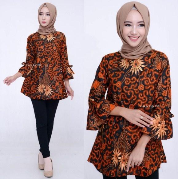 model baju batik atasan untuk wanita terbaru ifabrix 2