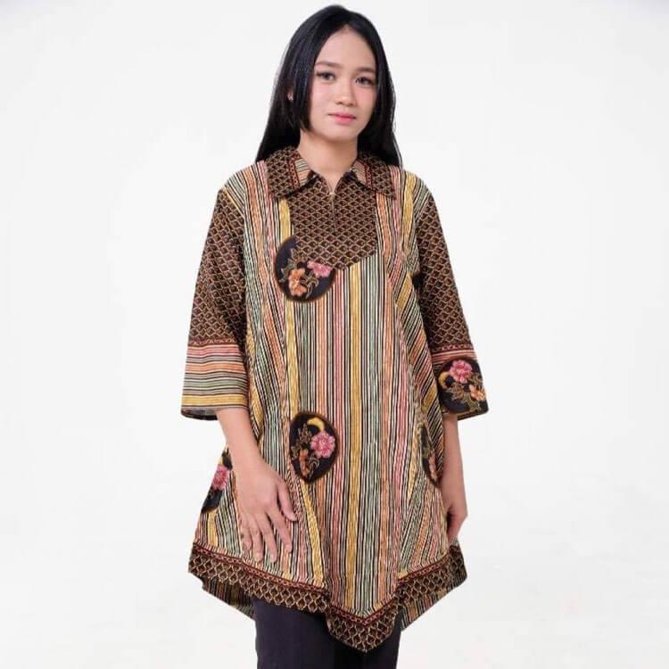 model baju batik kantor wanita terbaru salim soraya