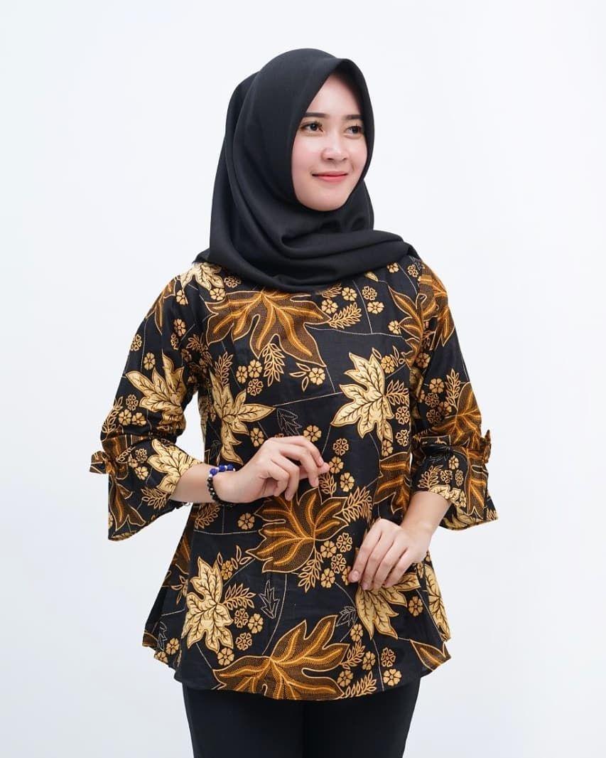 model baju batik modern wanita hijab ananta batik