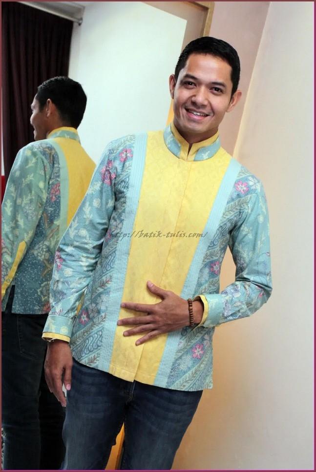 model baju batik pria lengan panjang terbaru batik tulis 1