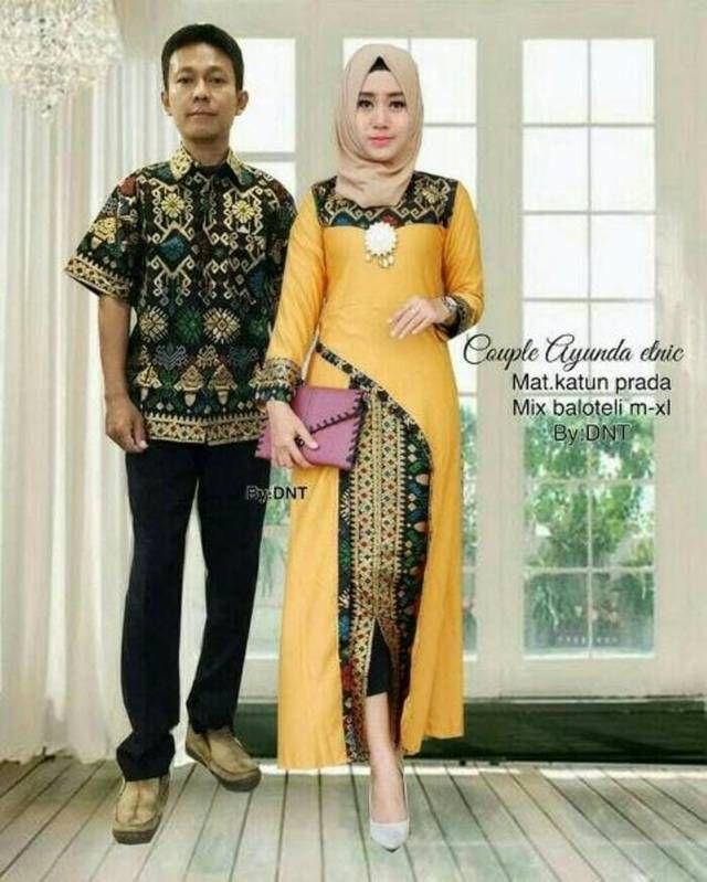 model baju batik terbaru lengan panjang gamis model
