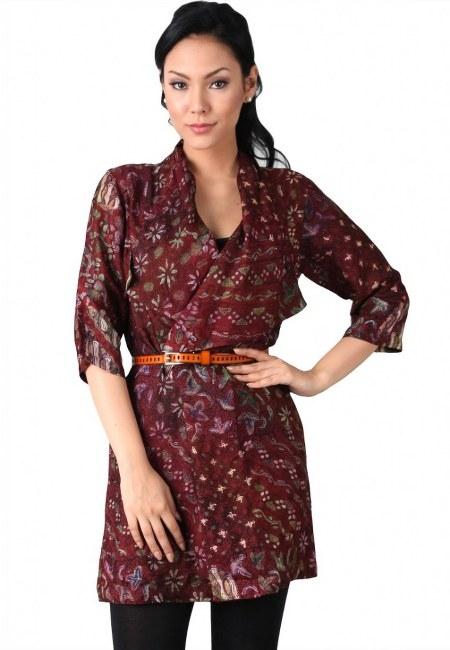 model baju batik wanita untuk kerja idemodelbusana