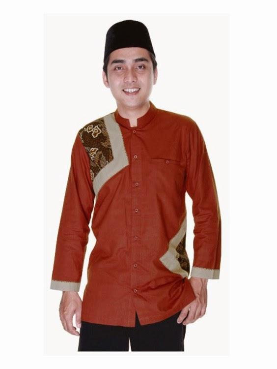 model baju muslim batik terbaru untuk pria