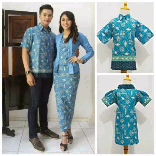 model seragam baju batik pasangan pria wanita baju batik