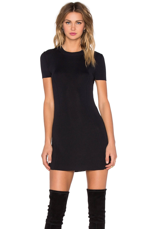 osklen short sleeve mini dress in black lyst