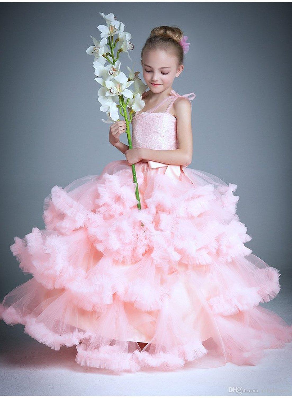 cloud little flower girls dresses for weddings ba party