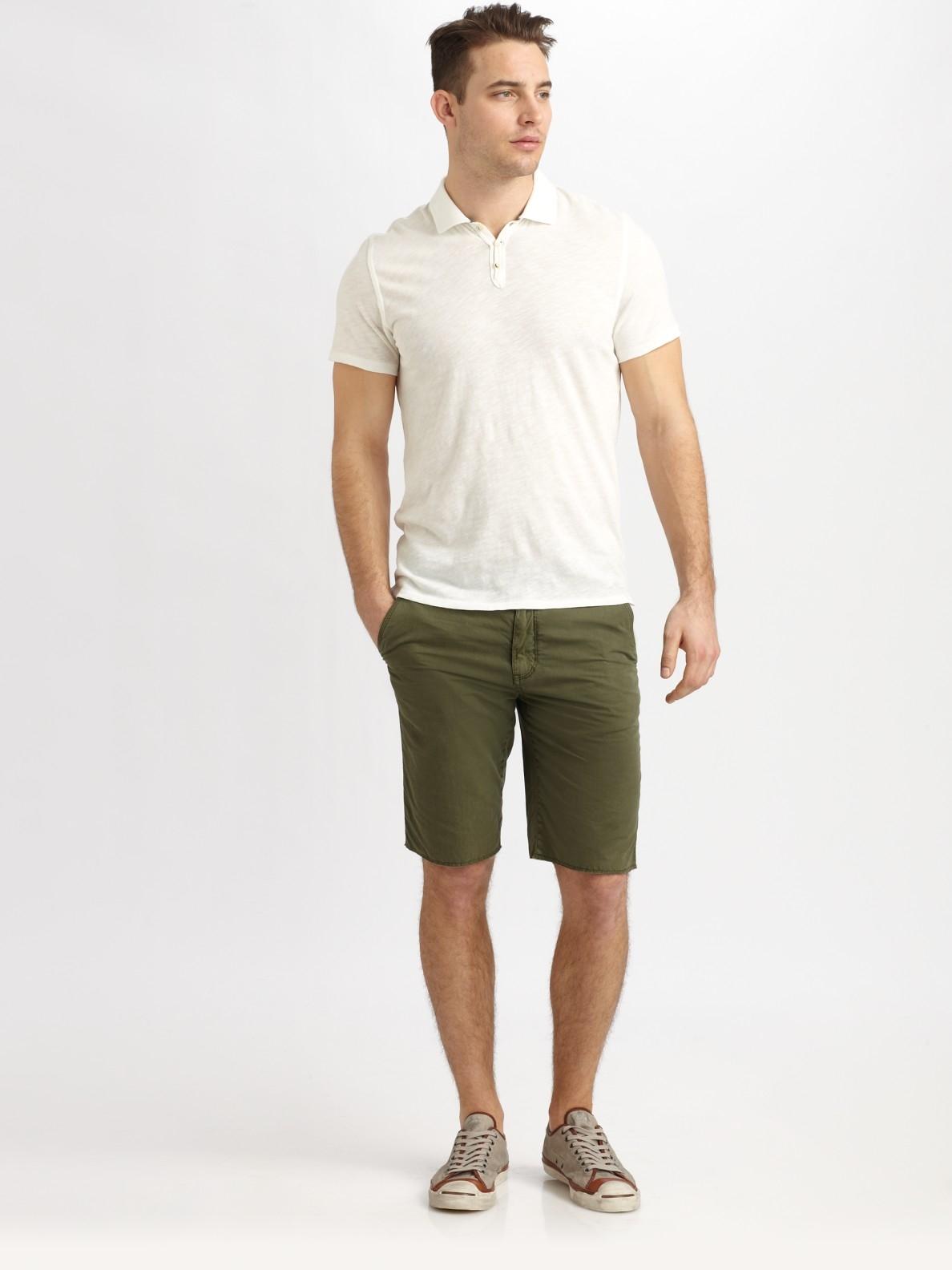 lyst converse garmetdyed shorts in green for men