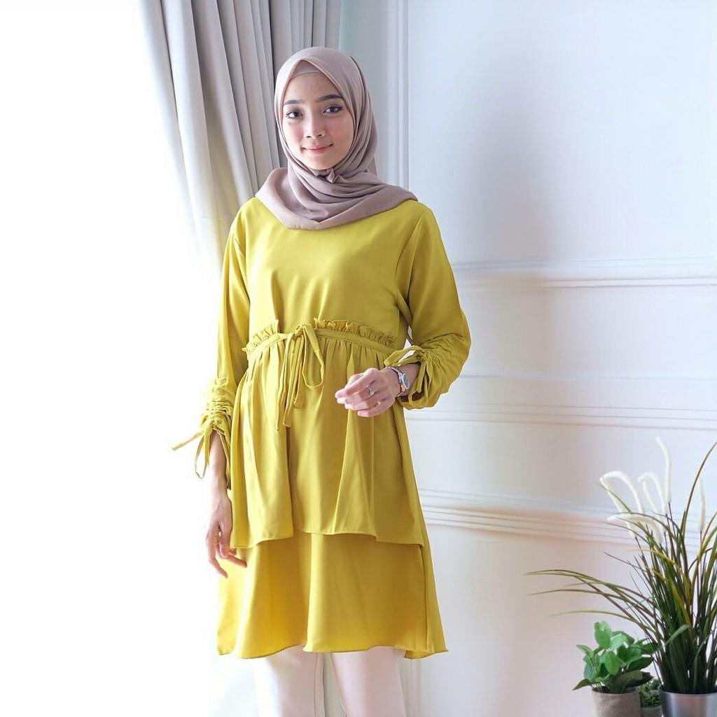 model baju terbaru wanita remaja ahz17 busana kekinian modis