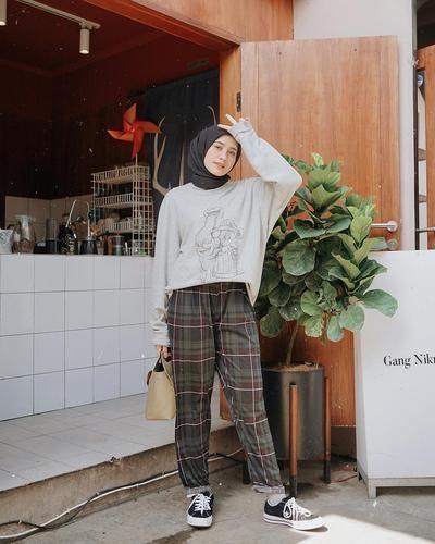 ootd celana kulot plisket hijab hijab muslimah