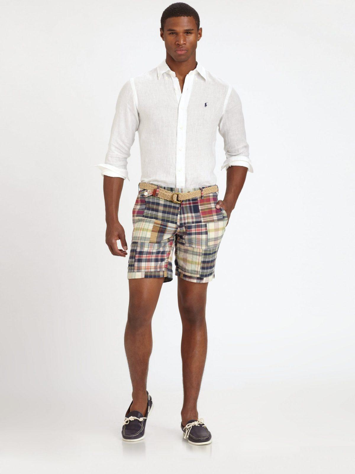 polo ralph lauren madras shorts for men lyst