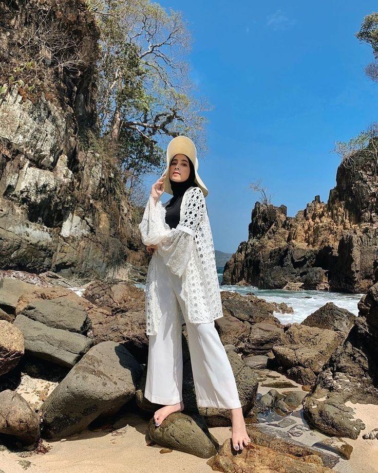 style hijab ootd pantai wanita hijab hijab lifestyle