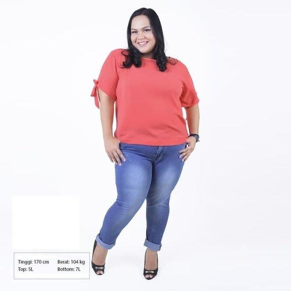 42 fashion jeans wanita gemuk trend masa kini