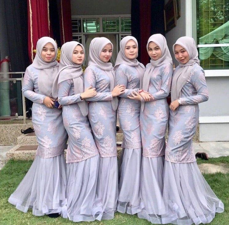 46 baju seragam kebaya keluarga untuk pesta pernikahan