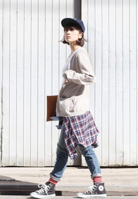 caps fashion tomboy fashion korean street fashion