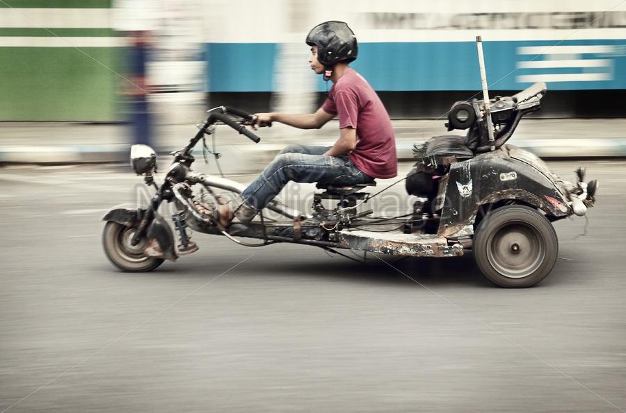 custom motorcycle indonesia stock photo