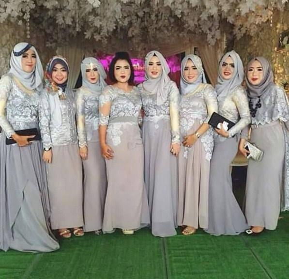 kreasi baju muslim wanita seragam untuk acara formal dan