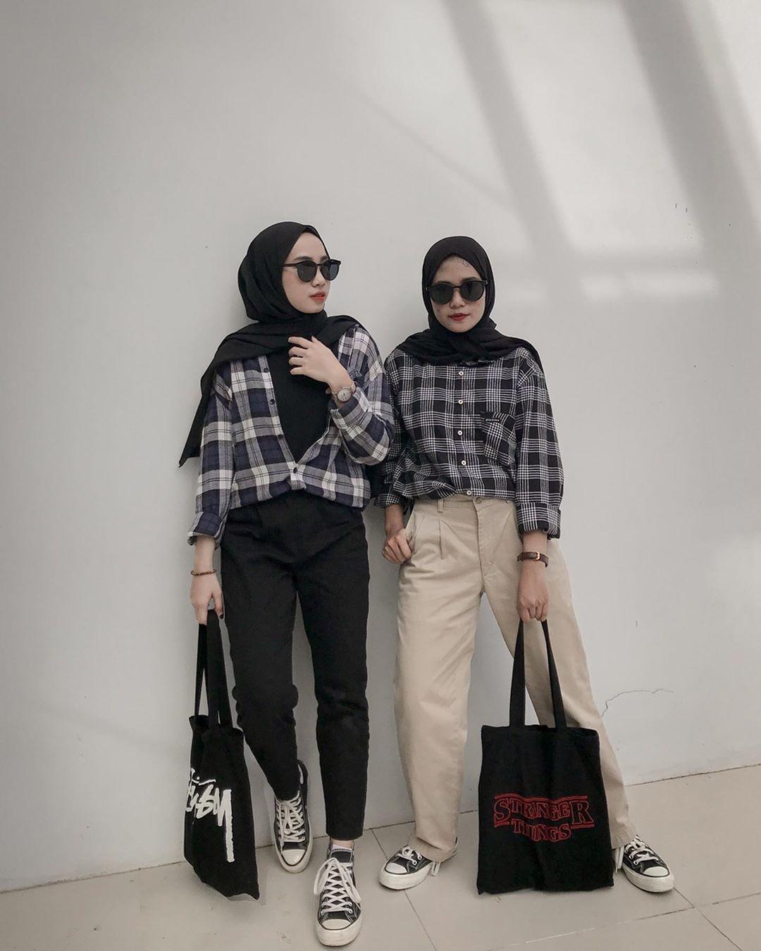 ootd style remaja wanita hijab