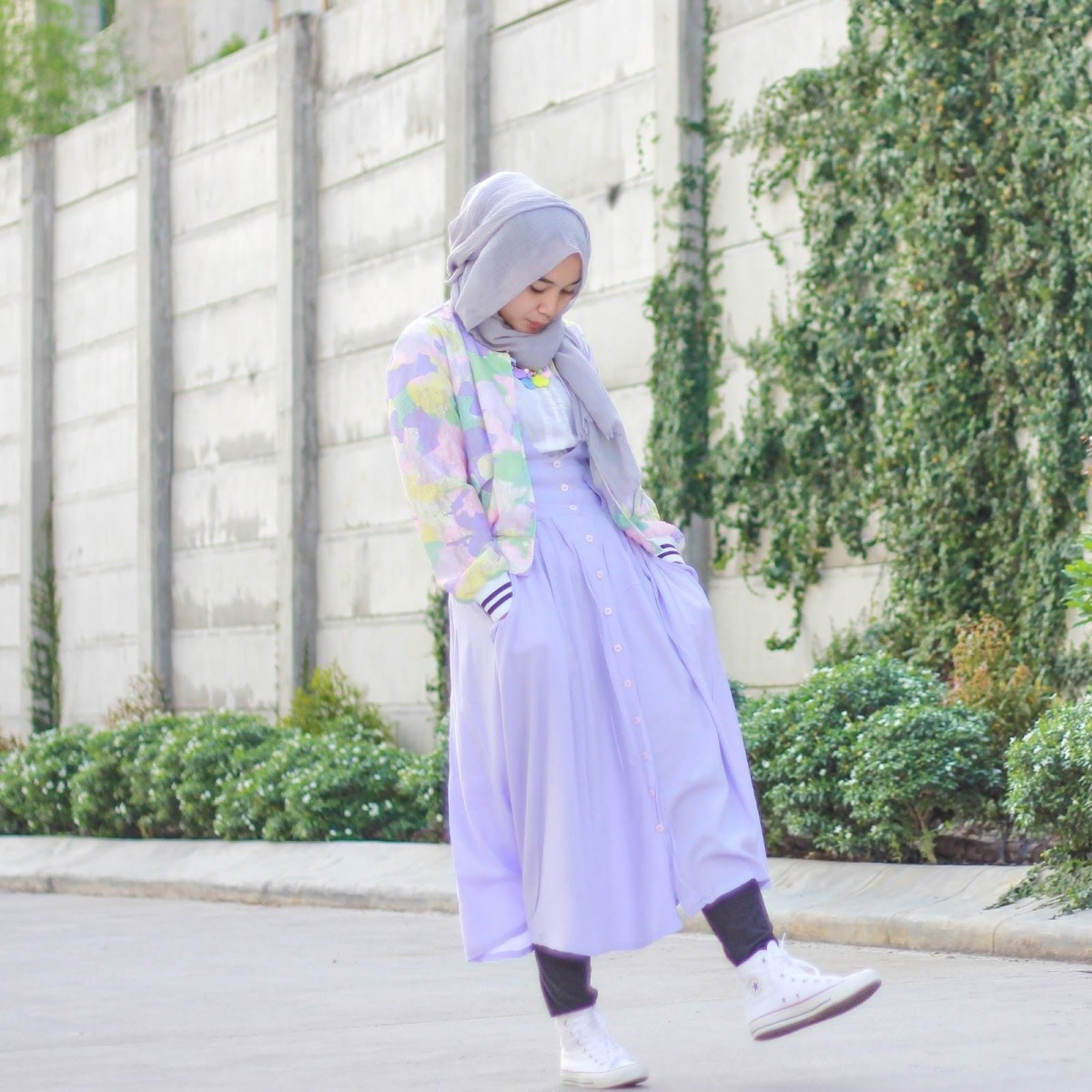 playful pastel hijab tutorial alerts muslimah