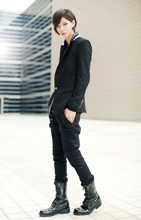 this is kpop style tomboy fashion androgynous fashion