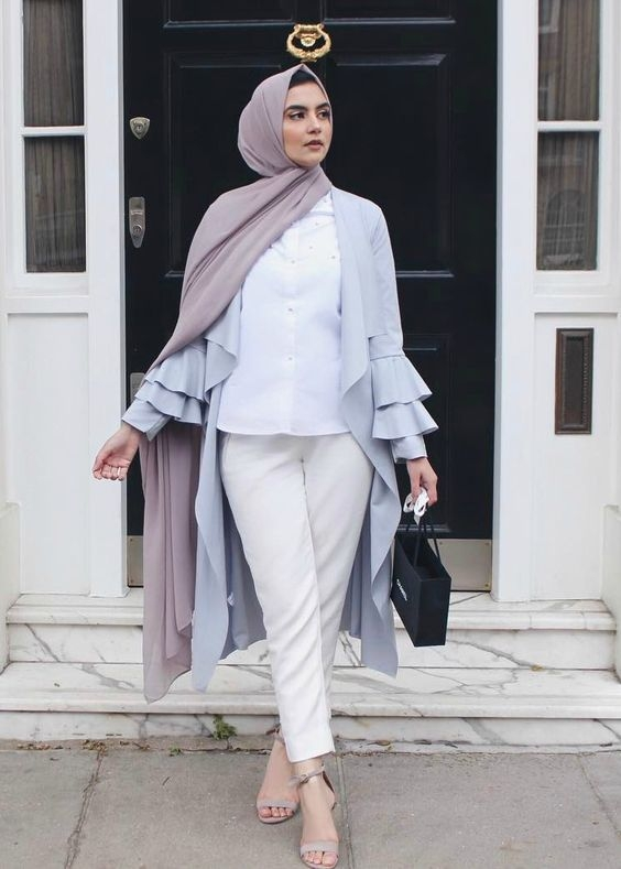 trend color pastel hijab outfit ideas hijab style
