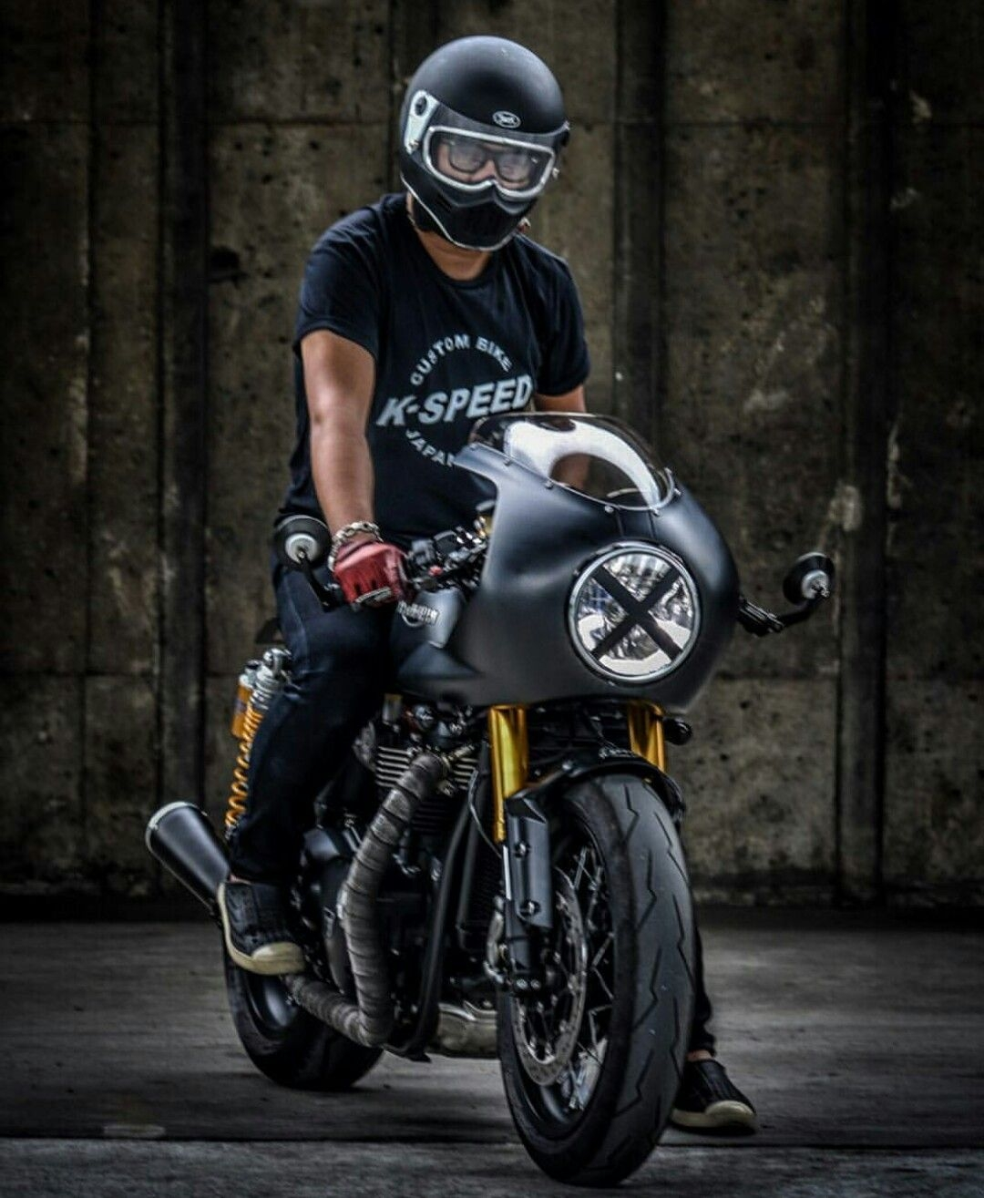 triumph custom cafe racer backyardrider with images