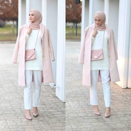 winter hijab street styles leena asaad just trendy girls