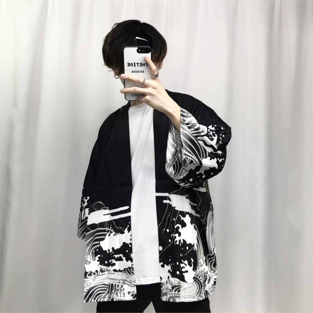 2019 new mens kimono japanese clothes streetwear casual