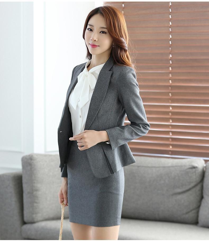 autumn business suit for women plus size skirt suits ol