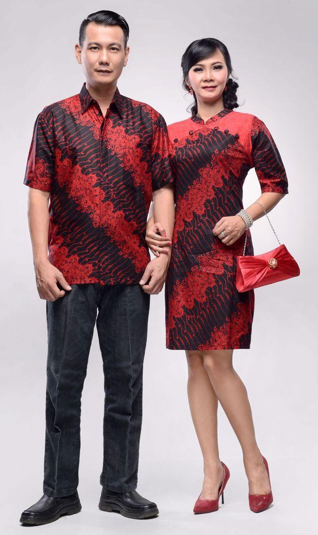 baju batik couple alona cheongsam series untuk imlek