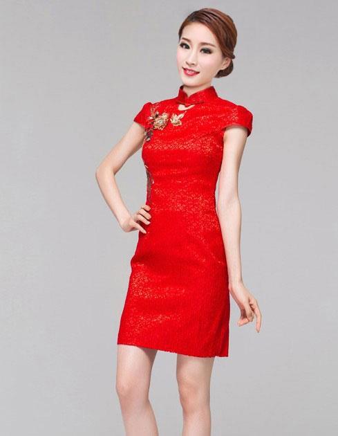 baju imlek wanita merah modern terbaru model terbaru